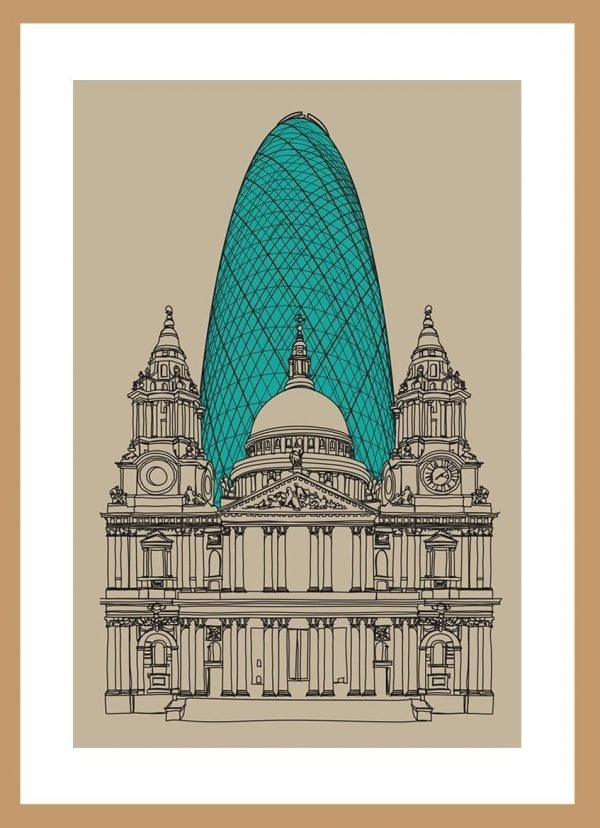 Gherkin & St Paul by Nick Reddyhoff
