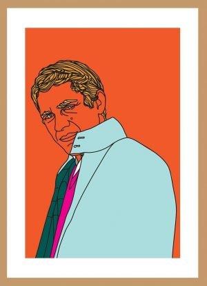 Steve Mcqueen by Nick Reddyhoff (orange)