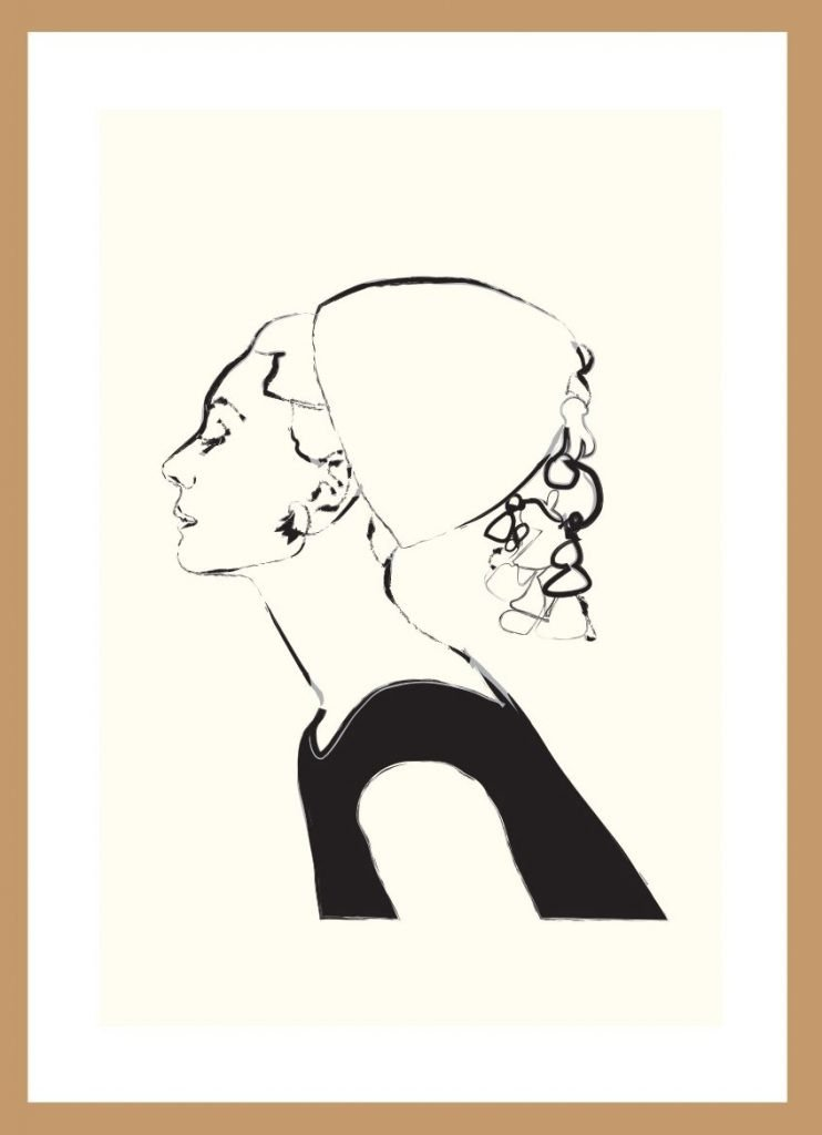 Audrey Hepburn (line) by Nick Reddyhoff