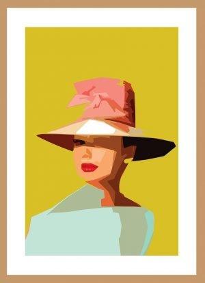 AUDREY Hepburn (hat) by Nick Reddyhoff